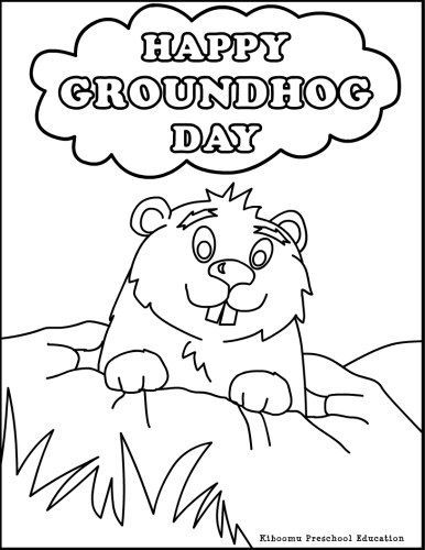386x500 Happy Groundhog Day Coloring Page For Kids Groundhog Day