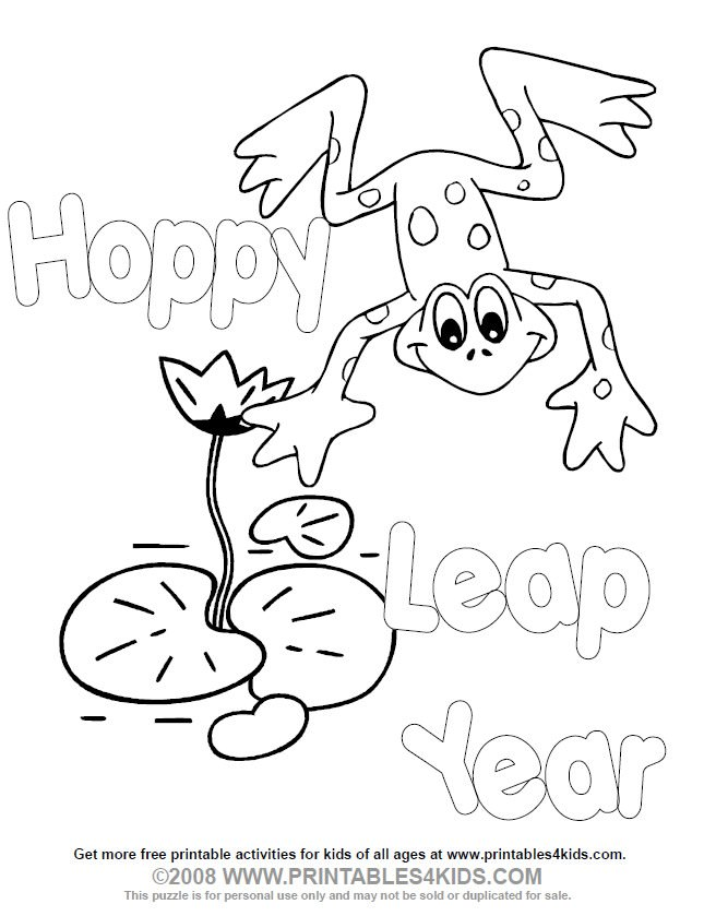645x839 Leap Day Coloring Pages