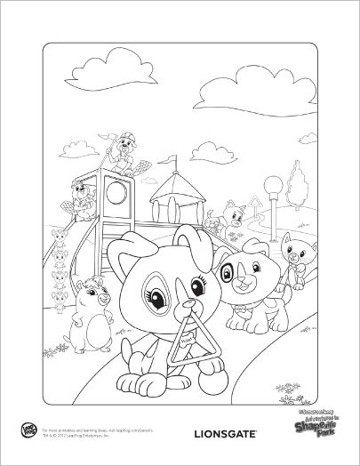 405x524 Leap Frog Coloring Pages Scout Violet Finger Puppets Free Kids