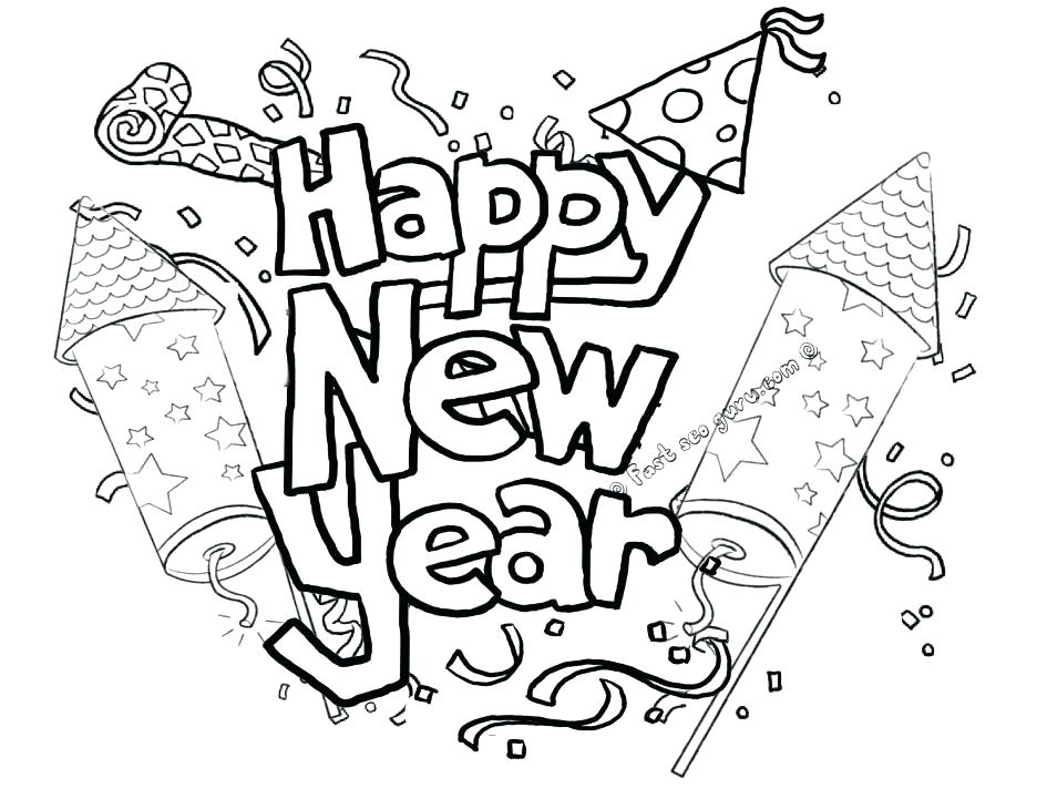 945x730 Coloring Sheets Year Olds New Years Sheet Eve Page Printable