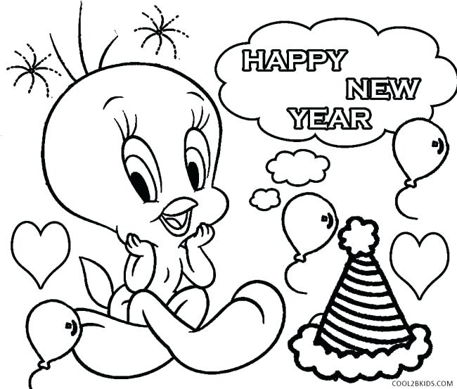 650x553 New Year Coloring Sheets Printable New Years Coloring Pages