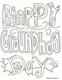 236x304 Ground Hogs Day Coloring Pages Remember To Go To The Next Page