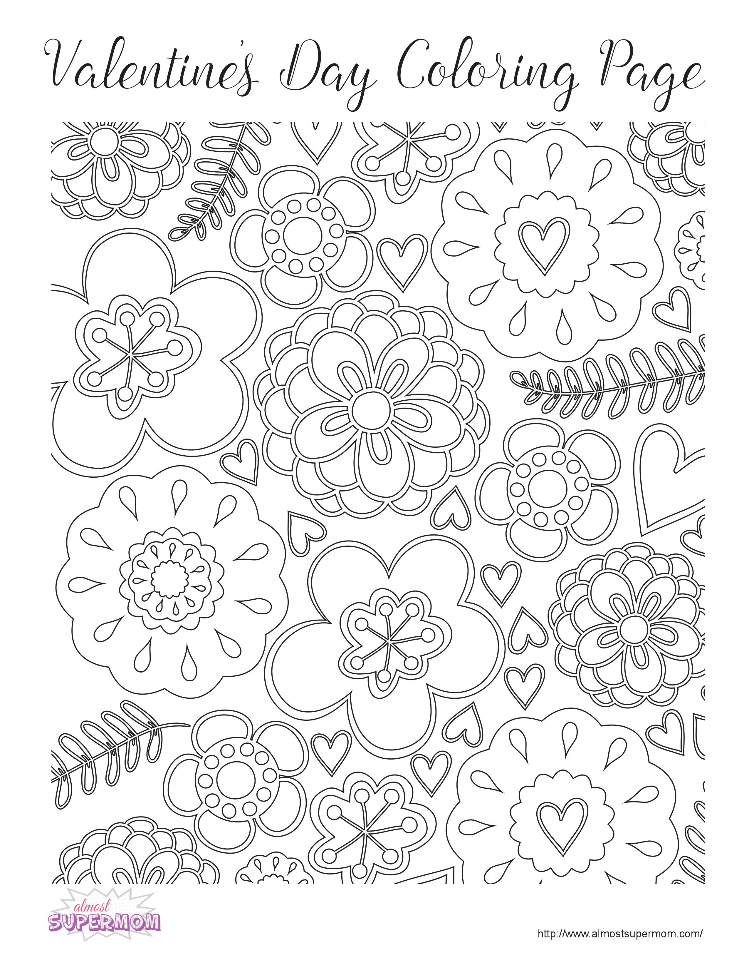 2550x3300 Free Valentine's Day Coloring Pages For Grown Ups
