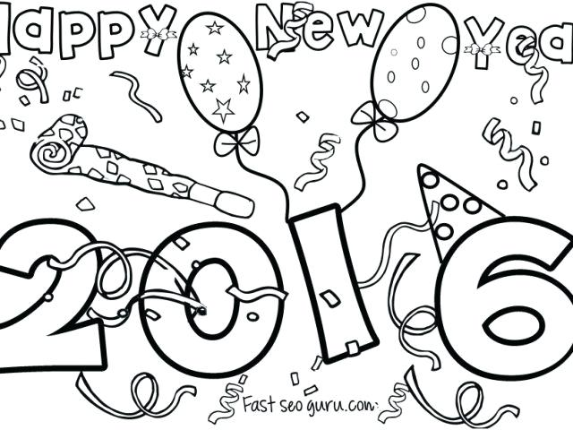 640x480 New Year Coloring Pages Happy New Year Free Leap Year Coloring