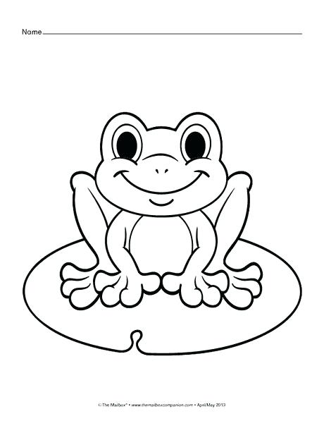460x597 Frog Color Pages Frog Coloring Pages Cute Frog Coloring Page