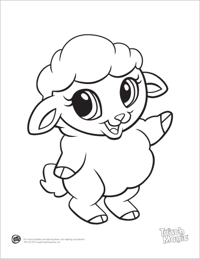 405x524 Learning Friends Sheep Baby Animal Coloring Printable