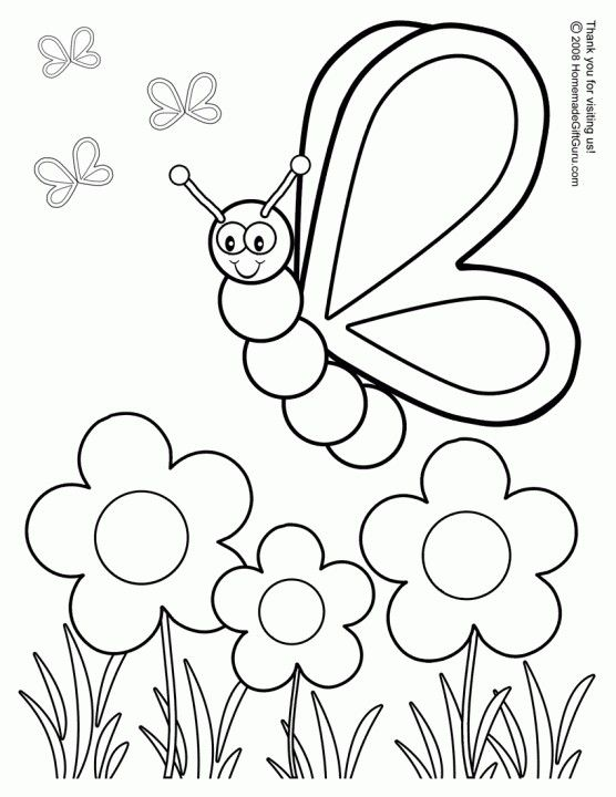 556x720 Printable Spring Coloring Pages Siera's Crafts Ideas