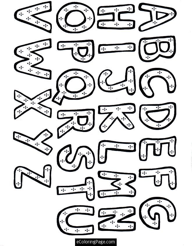 660x846 Alphabet Coloring Page For Kids Printable Gif Learning