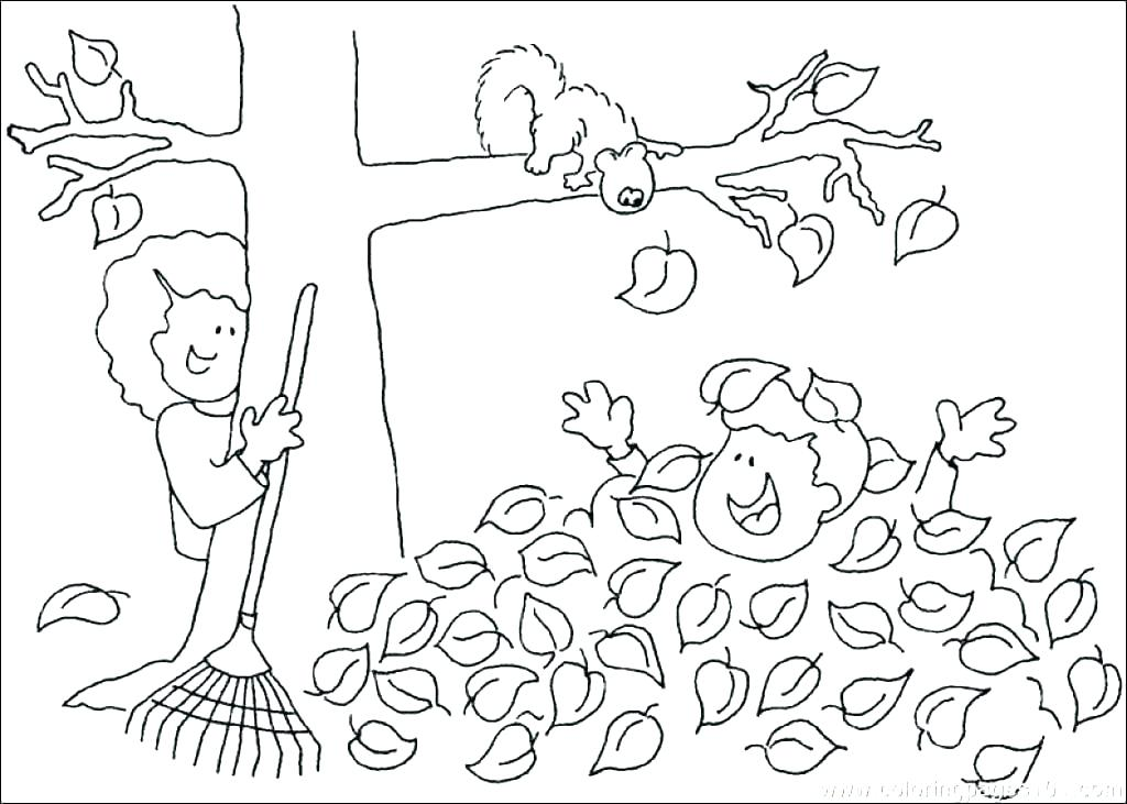 1024x731 Leaf Coloring Pages Printable