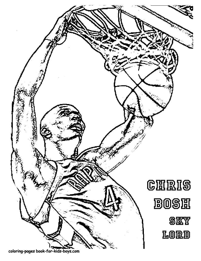 Lebron Coloring Pages