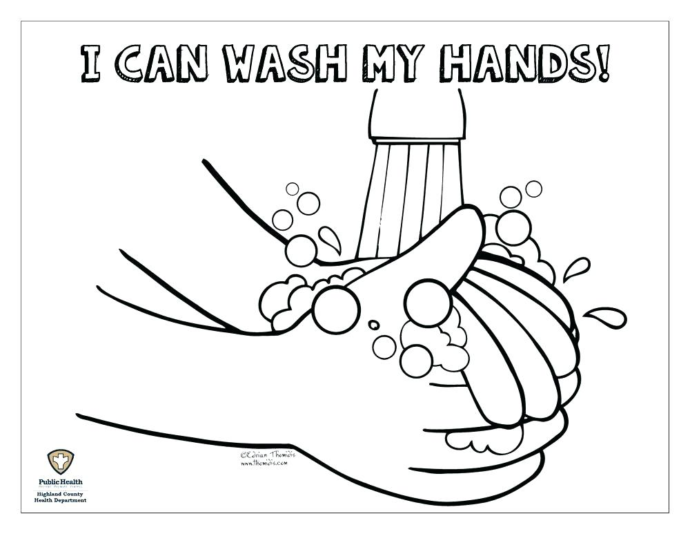 1000x773 Germ Coloring Page Germ Coloring Pages Washing Hands Coloring Page