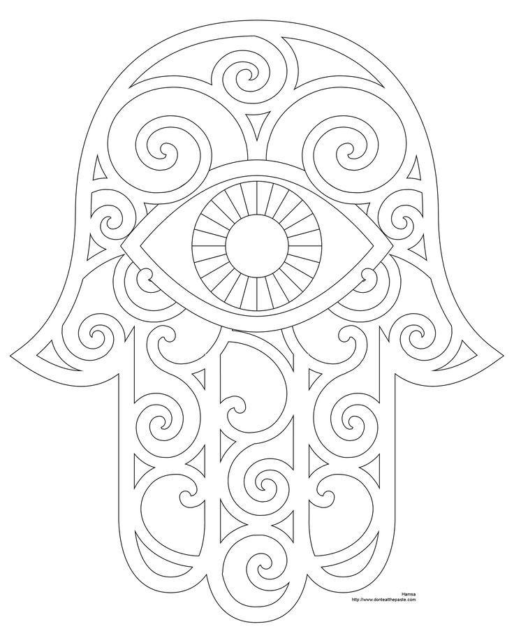736x920 Hamsa Hand Coloring Page Printable Nursery Ideas