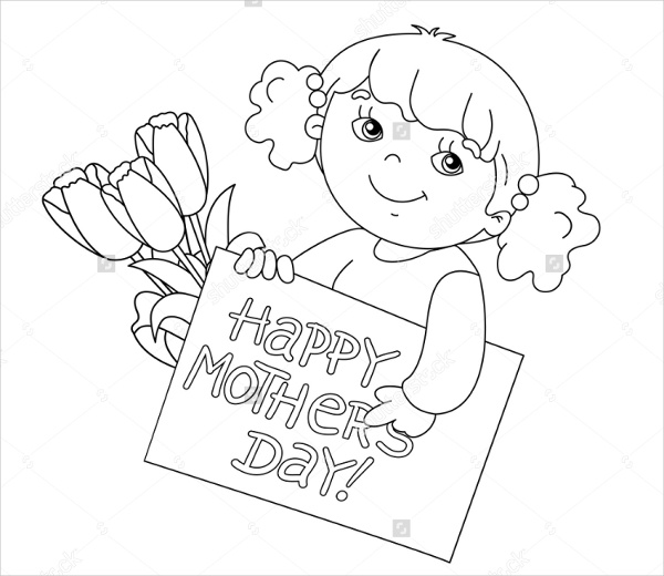 600x520 Mothers Day Coloring Pages