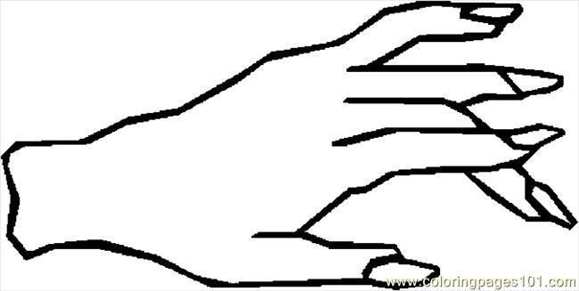 650x327 Coloring Page Hand