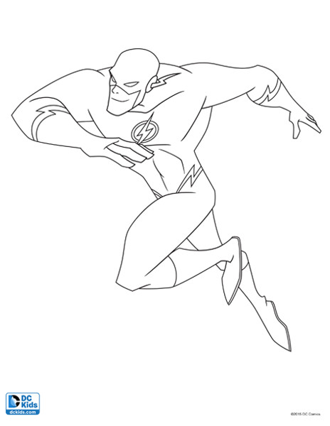 464x600 Flash Coloring Page