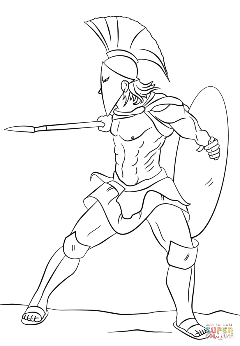 824x1186 Nice Spartan Coloring Pages Warrior Page Free Printable