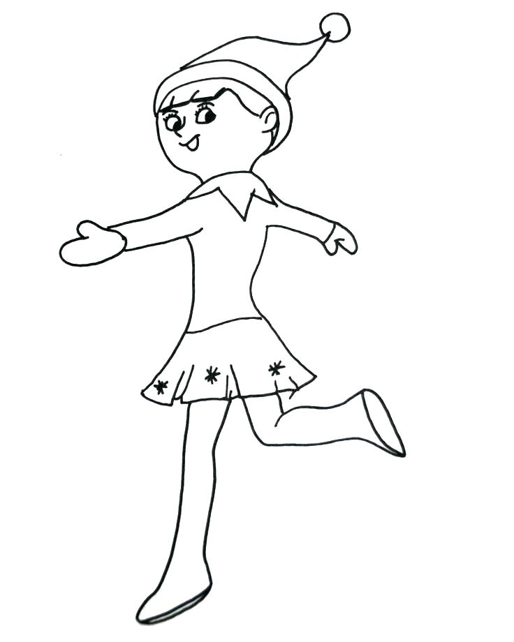 736x920 Elf Coloring Pages For Toddlers