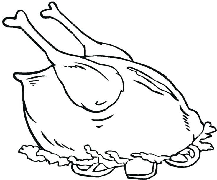 736x612 Chicken Leg Coloring Page Best Pages Ideas On Paisley Pictures
