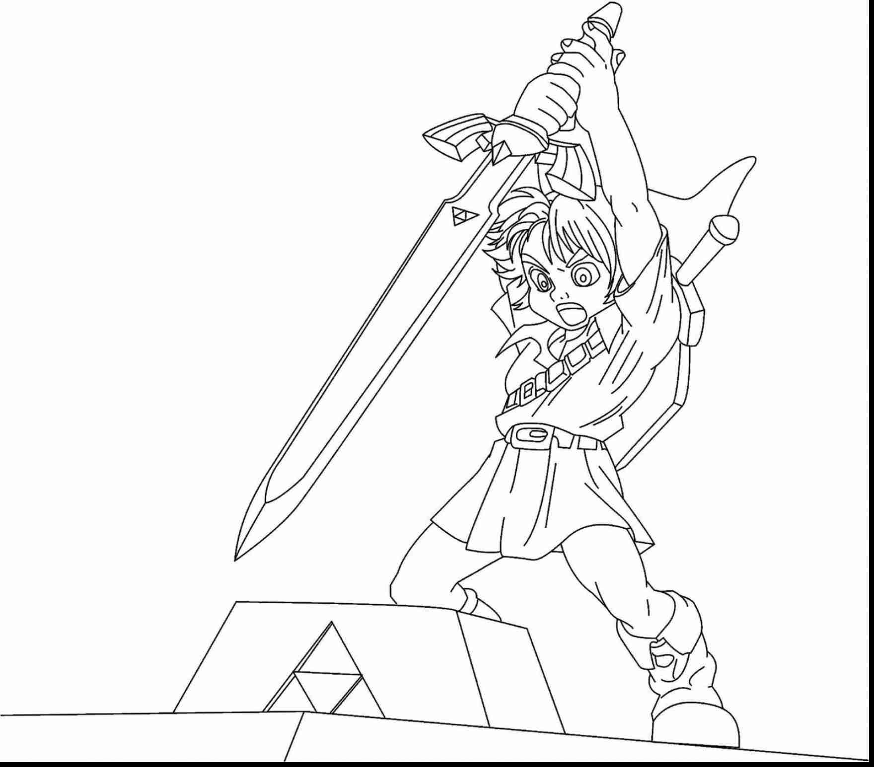 Legend Of Zelda Coloring Pages At Getdrawingscom Free For
