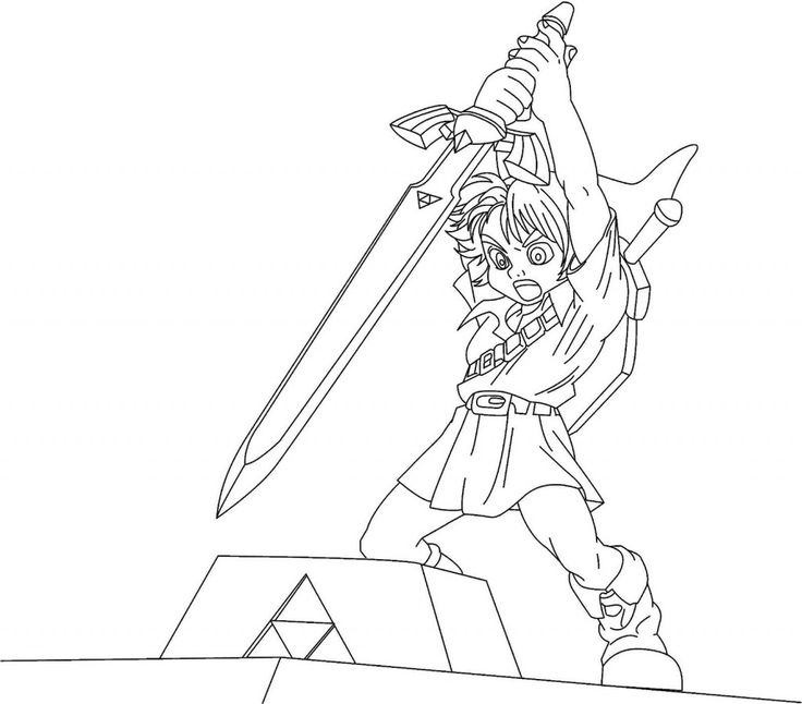 Legend Of Zelda Link Coloring Pages