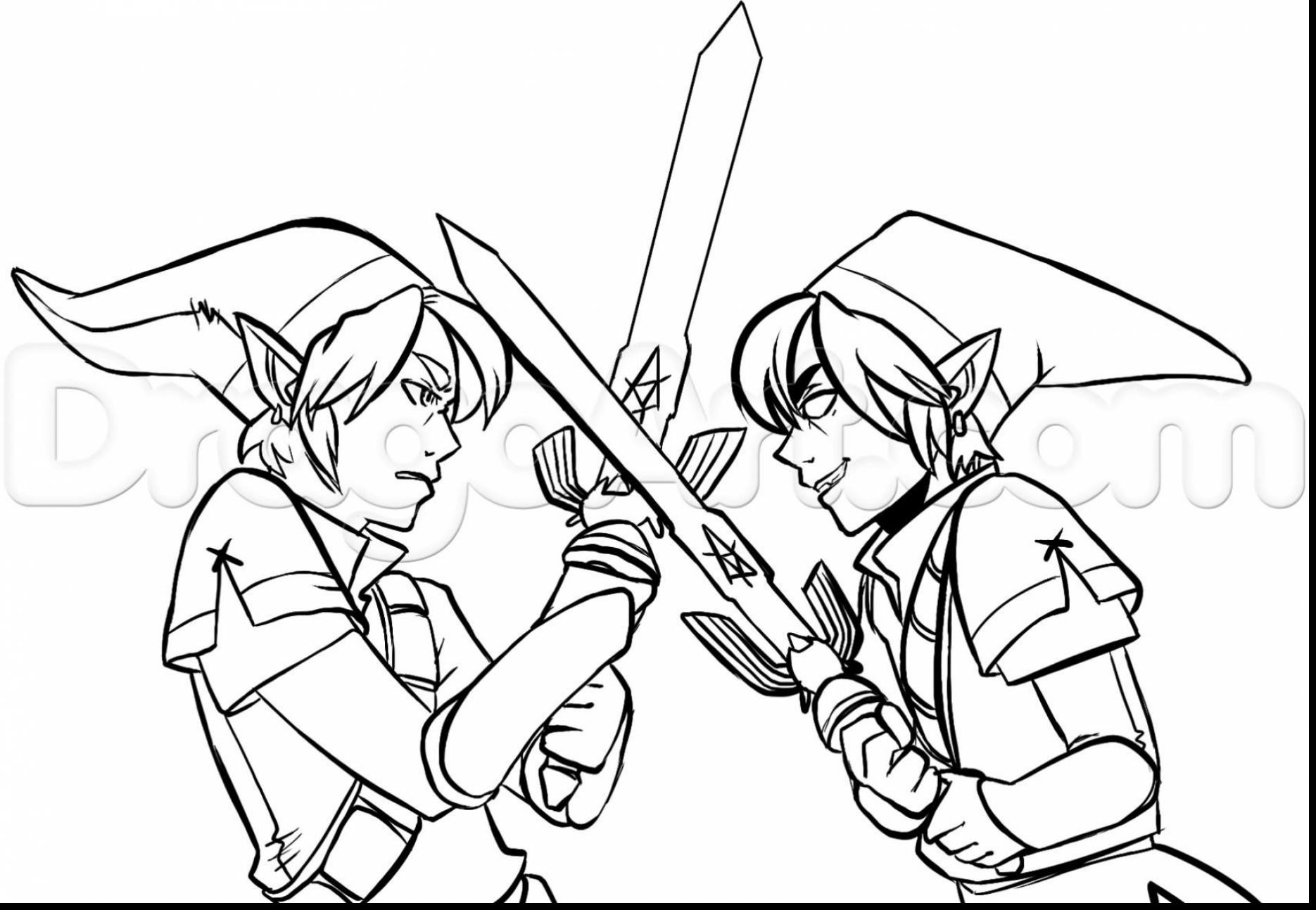 Legend Of Zelda Link Coloring Pages at GetDrawings | Free ...