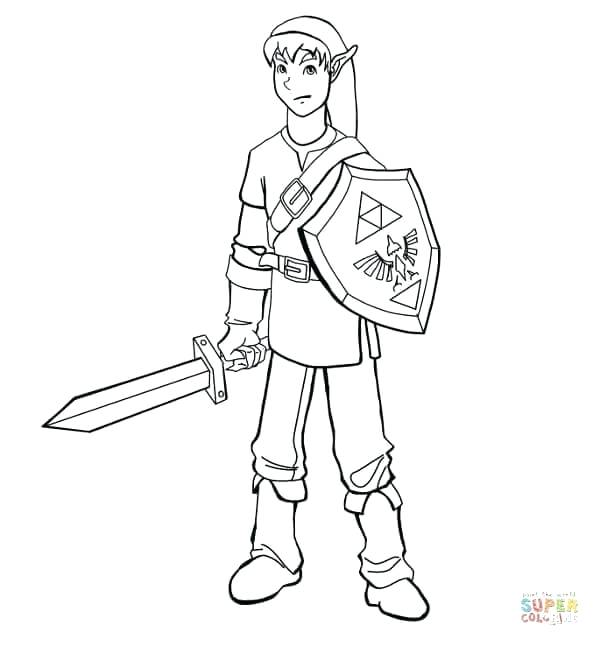 Legend Of Zelda Link Coloring Pages at GetDrawings   Free ...