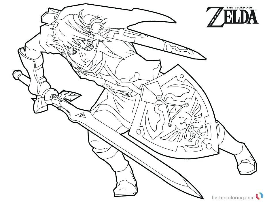 Legend Of Zelda Link Coloring Pages at GetDrawings com