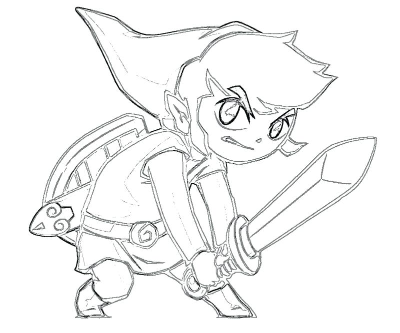legend of zelda link coloring pages at getdrawings  free