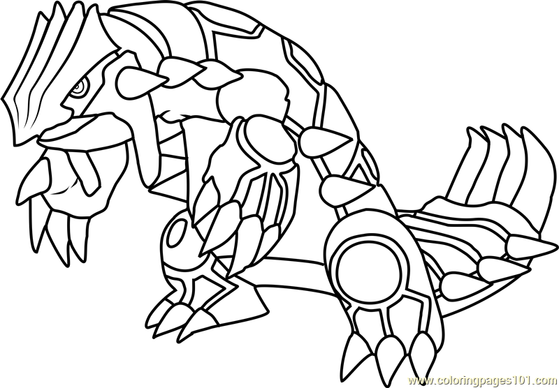 800x556 Groudon Pokemon Coloring Page
