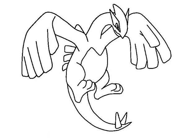 600x450 Lugia Legendary Pokemon Coloring Page