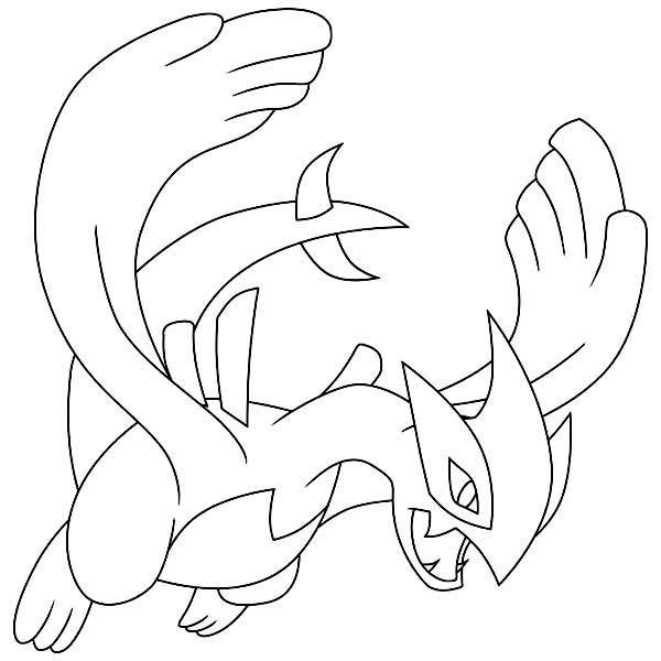 600x600 Lugia Legendary Pokemon Coloring Page Pokemon Mi