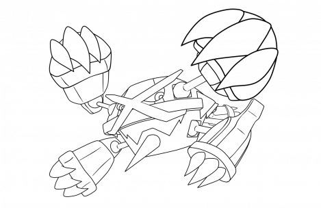 469x304 Legendary Pokemon Coloring Pages Mega Rayquaza Just Colorings