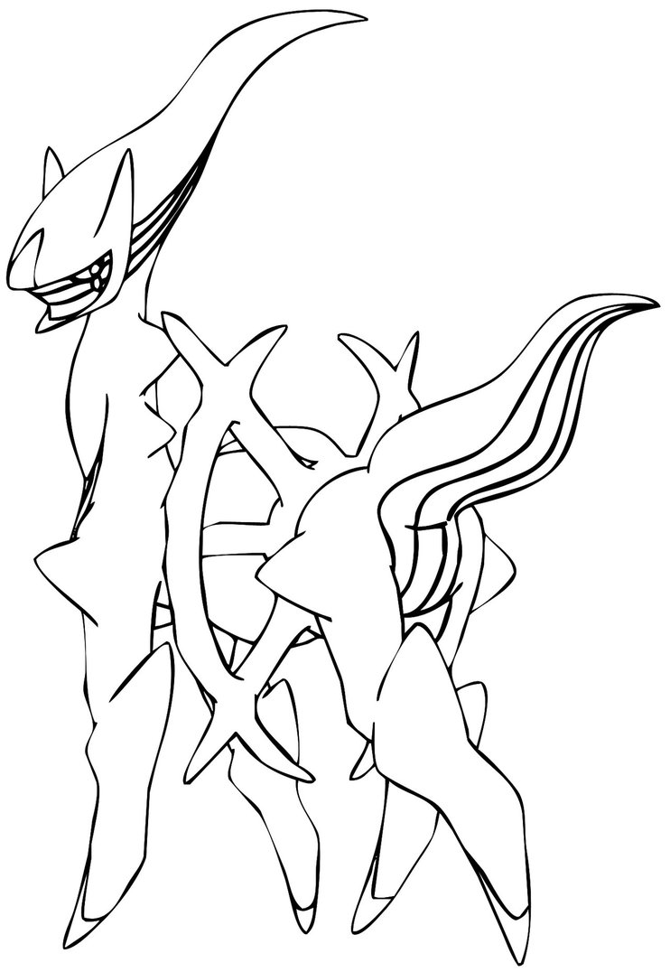 742x1076 Fascinating Legendary Pokemon Colouring Pages
