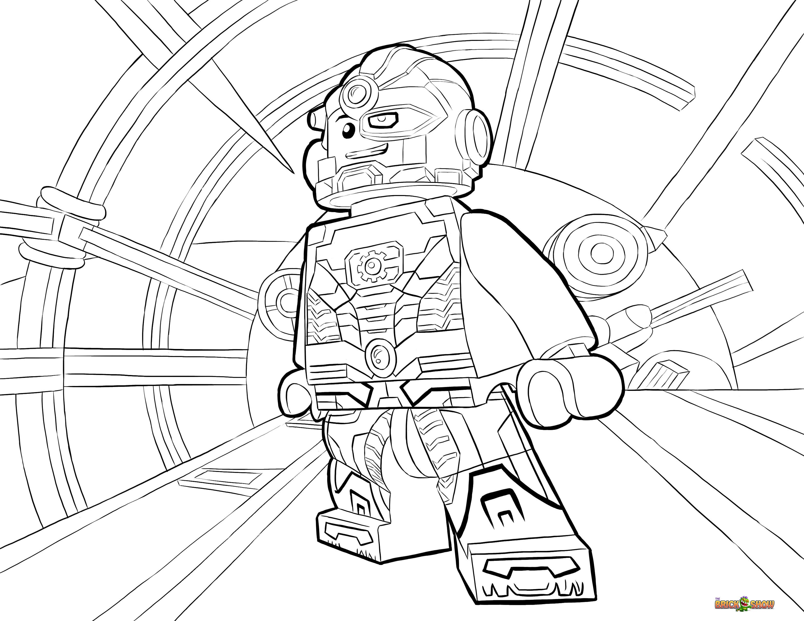3300x2550 Lego Cyborg Coloring Pages