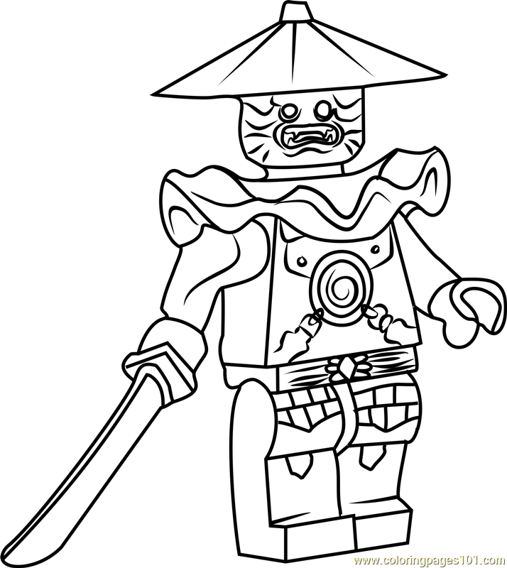 714x800 Ninjago Stone Swordsman Coloring Page
