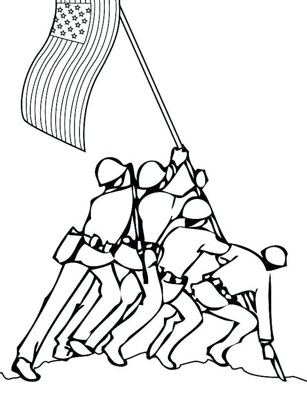 618x800 Soldiers Coloring Pages