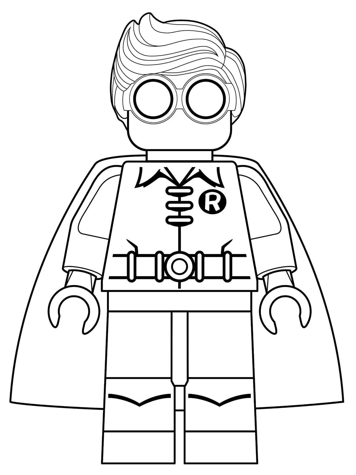 1200x1600 Lego Batman Movie Coloring Pages Kids N Fun Of Robin