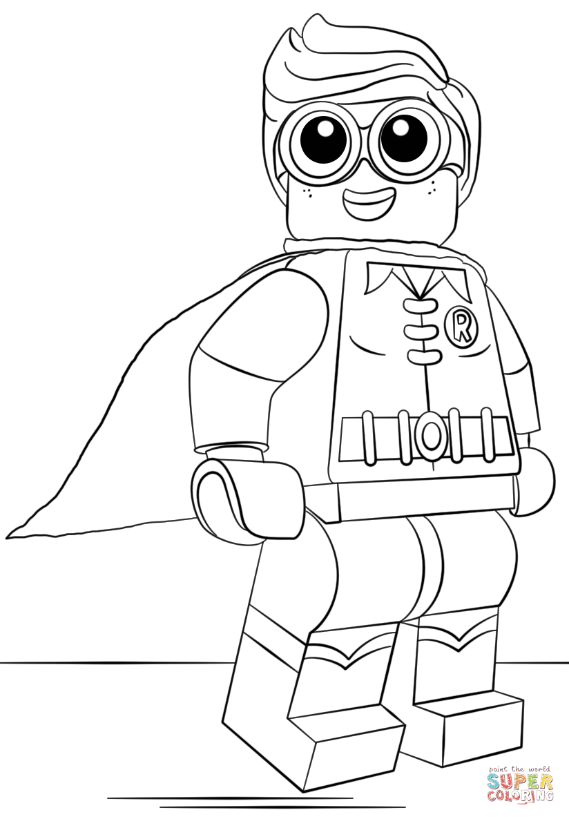 824x1186 Lego Robin Coloring Page From The Lego Batman Movie Category