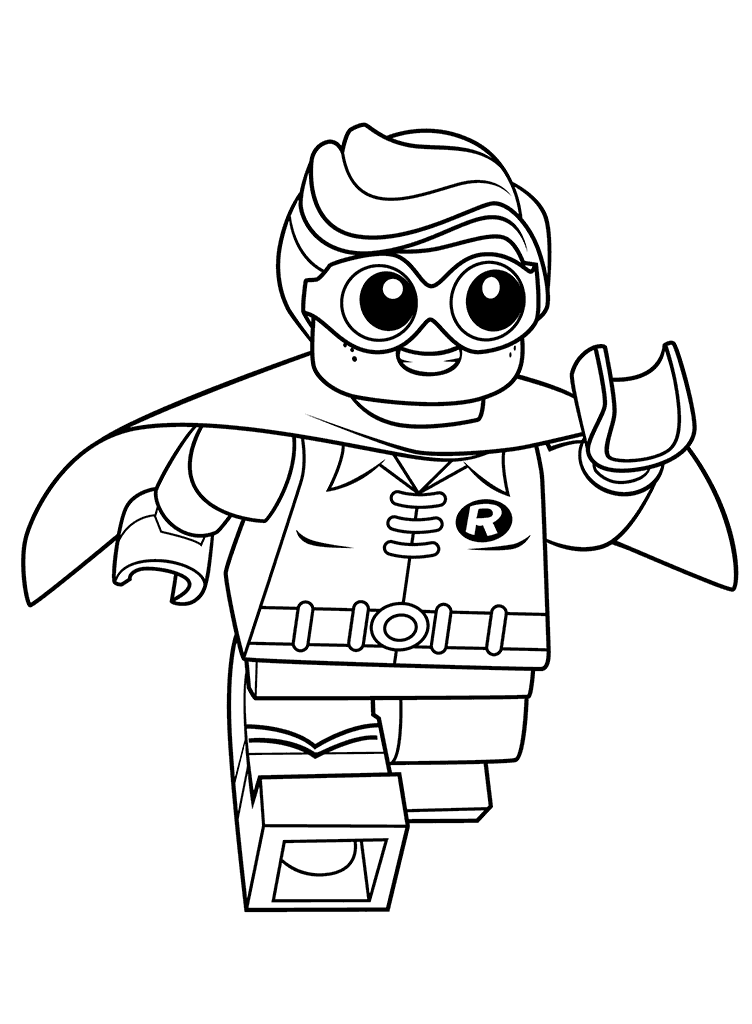 752x1024 Lego Superhero Robin Coloring Pages