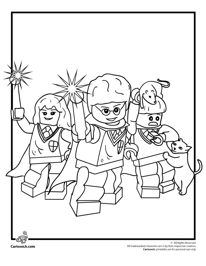 Lego Block Coloring Pages