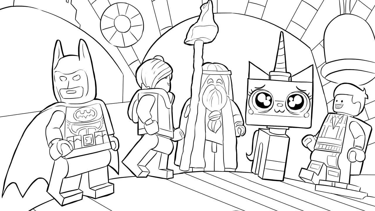 Lego Brick Coloring Pages
