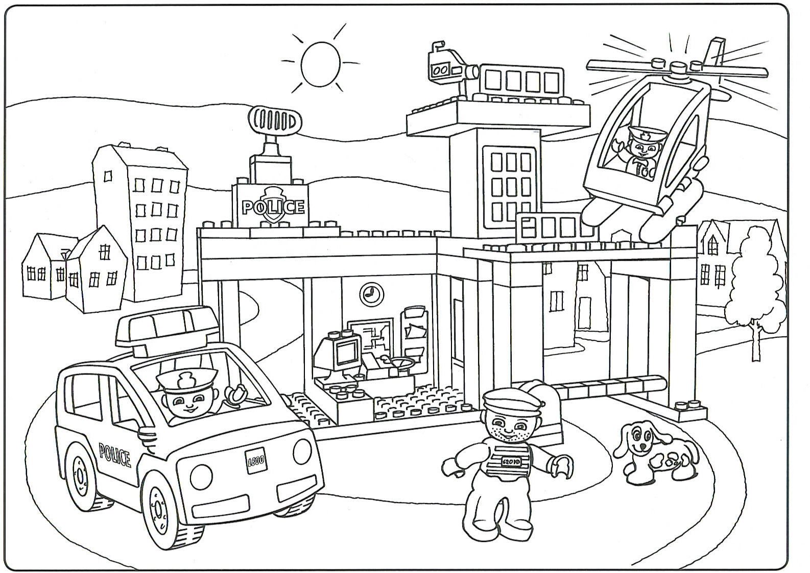 1586x1123 Lego Duplo Coloring Pages Free Bricks Coloring Pages