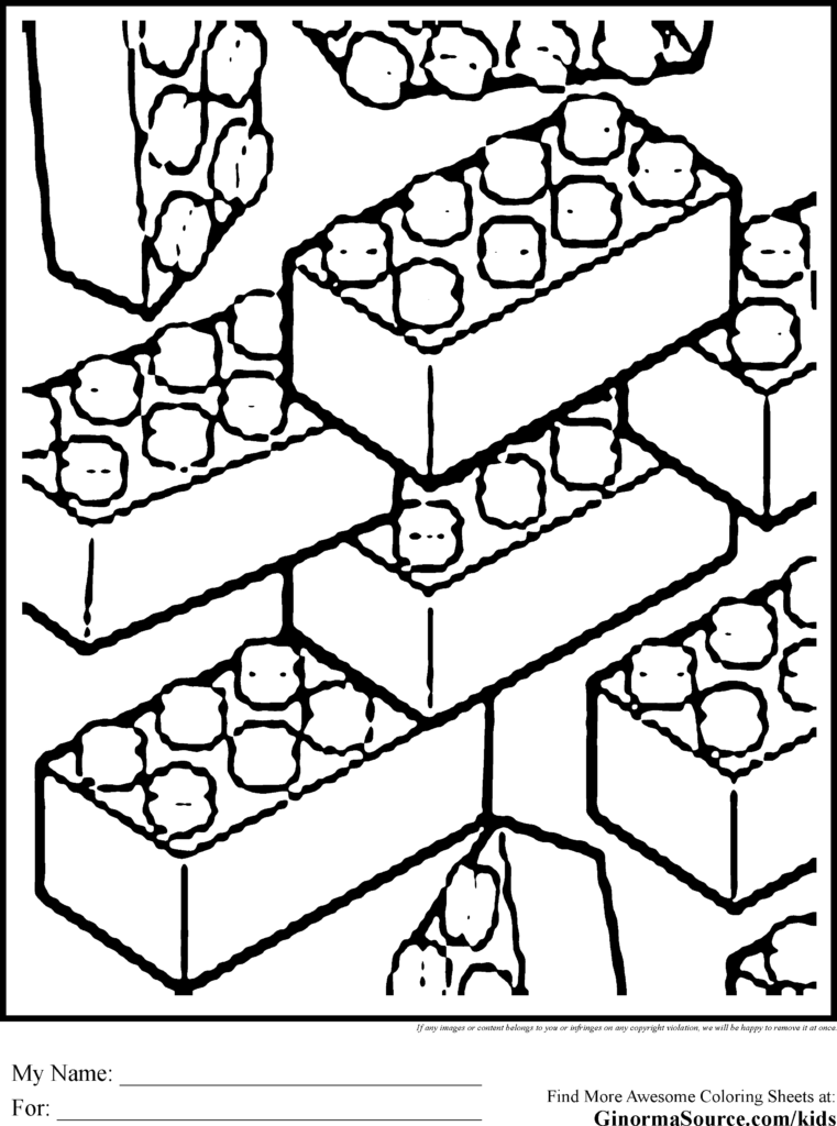 761x1024 Lego Pieces Coloring Pages Many Interesting Cliparts In Brick Red