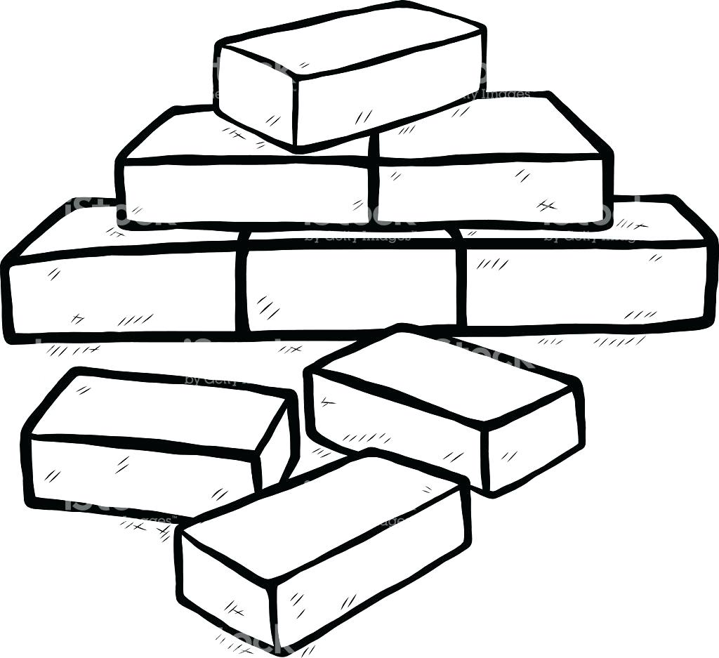 1024x937 Reduced Brick Coloring Page Bricks Colouring Pages Within Red