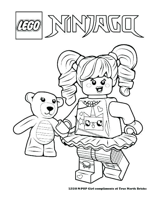 500x640 Lego Brick Coloring Page