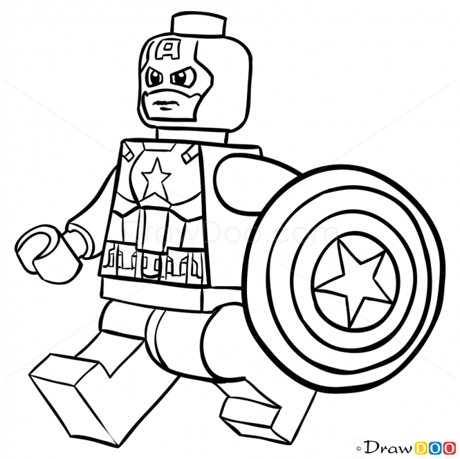 Lego Captain America Coloring Pages at GetDrawings | Free ...