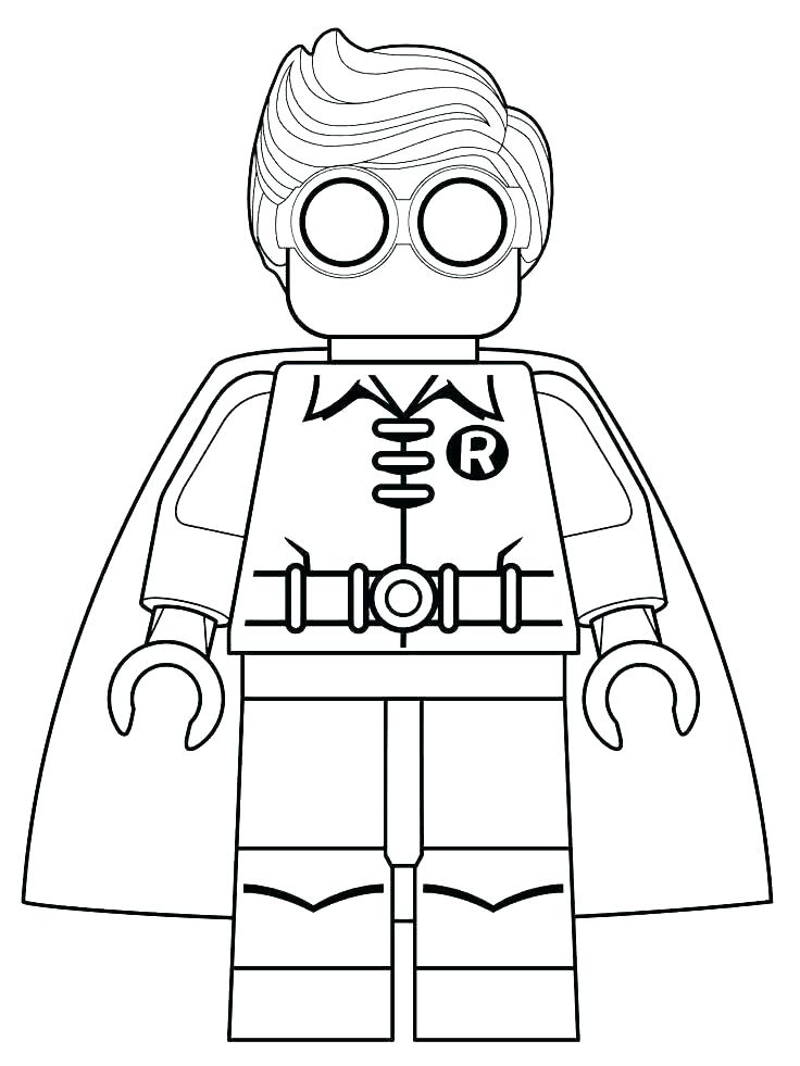 736x981 Lego Robin Coloring Pages Robin Coloring Pages Robin Colouring