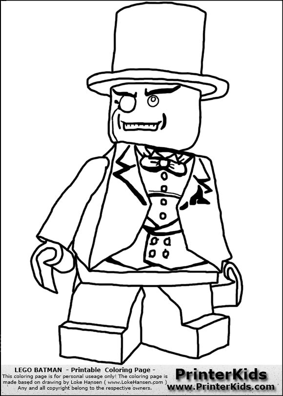 Lego Catwoman Coloring Pages