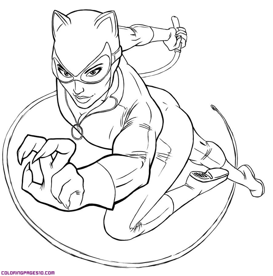 889x898 Catwoman Coloring Pages To Download And Print For Free Catwoman