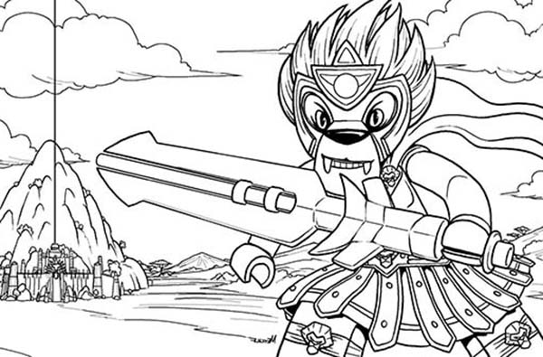 600x395 Warrior Longtooth Fighting Style Lego Chima Coloring Pages Batch